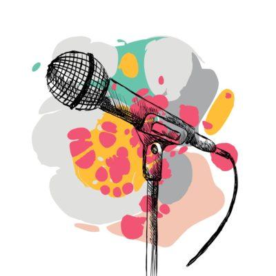 vector-sketch-microphone-vector-id623859040